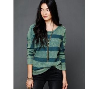Free People  | acid wash thermal long sleeve
